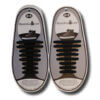 Quicklaze silicone shoelace black