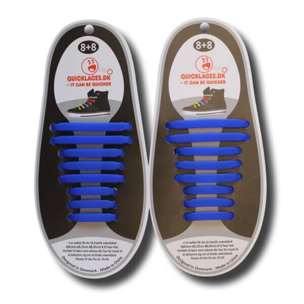 Quicklaze silicone shoelace blue