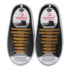 Quicklaze silicone shoelace gold glitter