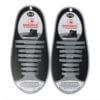 Quicklaze silicone shoelace silver glitter