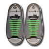 Quicklaze silicone shoelace green glow in the dark
