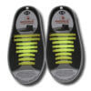Quicklaze silicone shoelace yellow glow in the dark