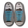 Quicklaze silicone shoelace light blue