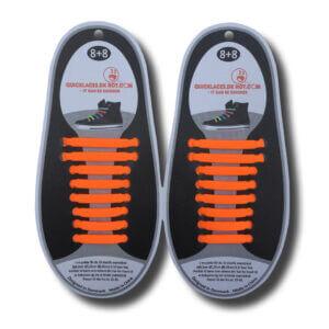 Quicklaze silicone shoelace orange