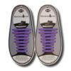 Quicklaze silicone shoelace purple