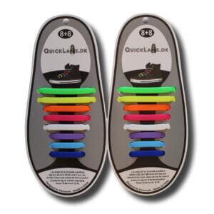 Quicklaze silicone shoelace rainbow
