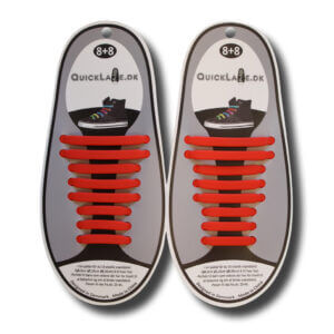 Quicklaze silicone shoelace red