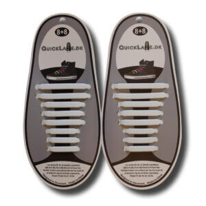 Quicklaze silicone shoelace white