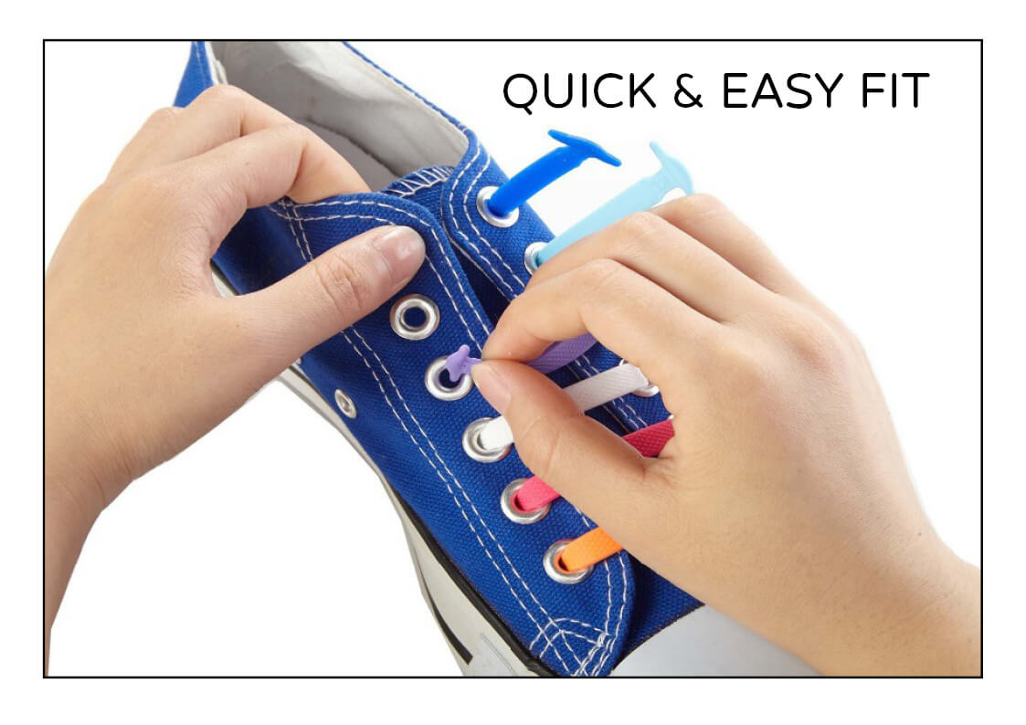 how to fit silicone sneaker shoe laces